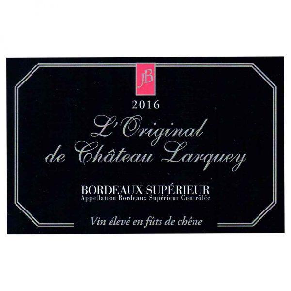 Etiquette Magnum cuvee prestige l original superieur bordeaux rouge chateau larquey caudrot