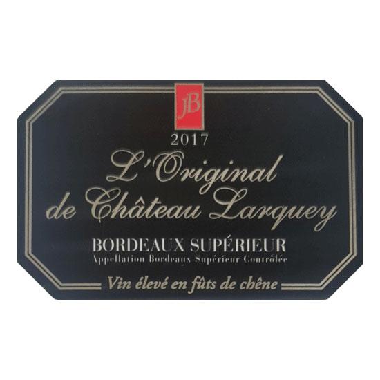 Etiquette bouteille cuvee prestige l original superieur bordeaux rouge chateau larquey caudrot