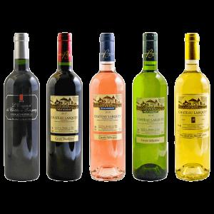 Pack decouverte 5 bouteilles chateau larquey caudrot