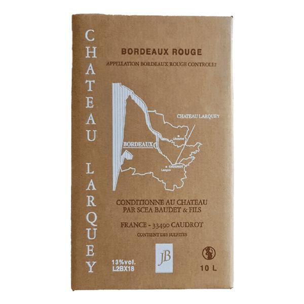 Bag In Box cubi 10 litres Bordeaux rouge chateau larquey caudrot plan